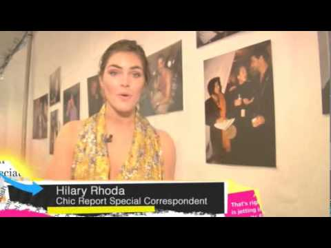 2/19/10 Fashion Week. Hilary Rhoda interviews DVF, Coco Rocha and more. Video
