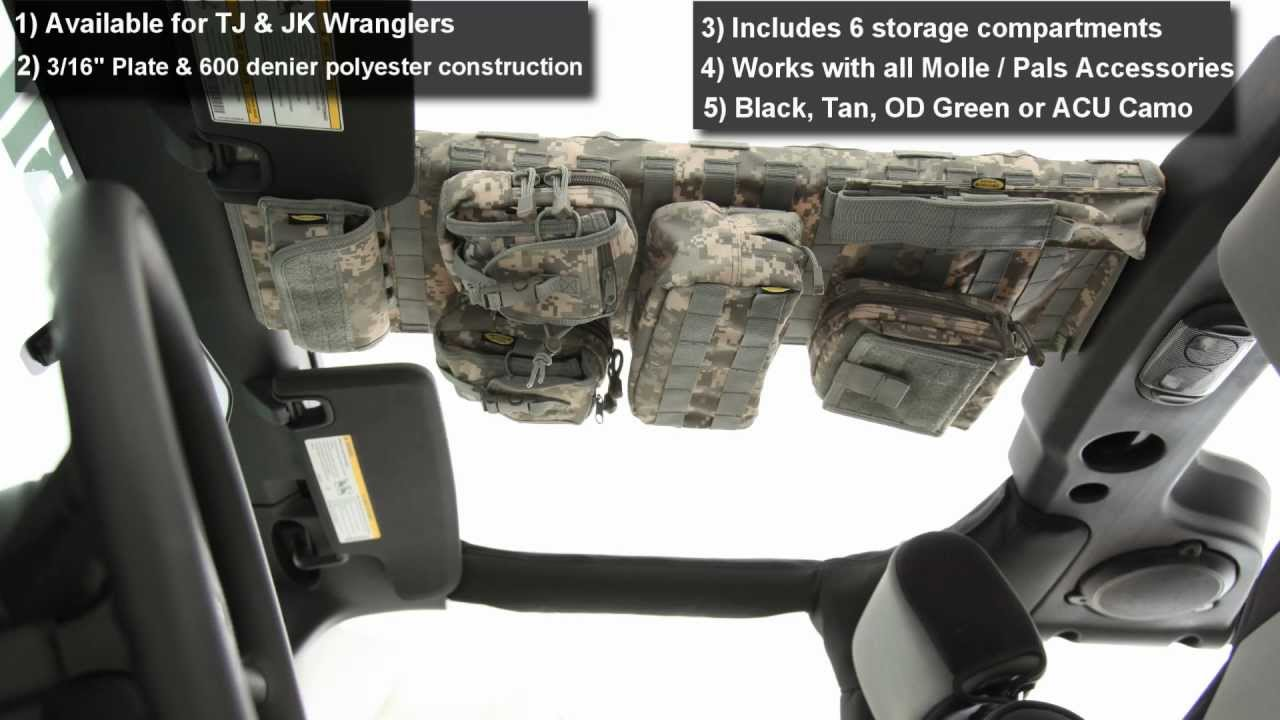 Smittybuilt Seat Covers >> Smittybilt - GEAR Overhead Console for Jeep Wrangler - YouTube