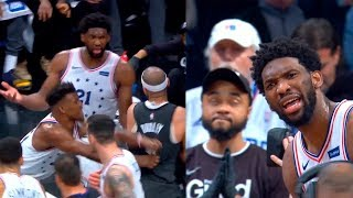 Jared Dudley and Jimmy Butler have been ejected after scuffle between Sixers & Nets