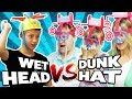 Wet Head vs. Dunk Hat Challenge ☔️ TipTapTube 😁