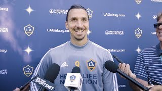 Zlatan Ibrahimovic speaks ahead of the LA Galaxy's Decision Day matchup against Houston Dynamo