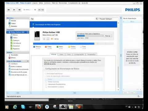 Colocando video no Mp4 Philips GoGear Vibe   YouTube