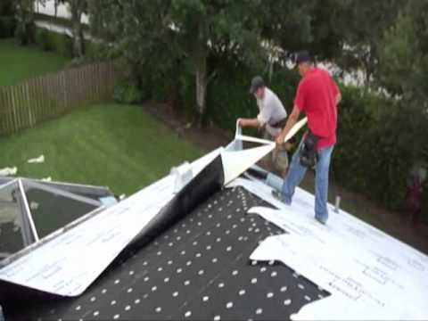 Peel And Stick Underlayment For Roof Youtube