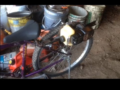 How To Build A Weed Eater Bike Putting A Sprocket On A