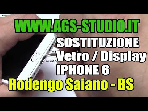 Sostituzione vetro iphone 6 glass replacemente iphone 6 come smontare iphone 6