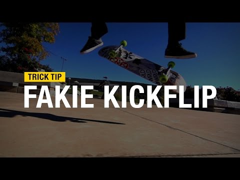 Trick Tips: How to Fakie Kickflip with Andrew Cannon