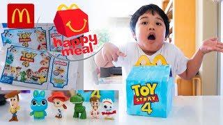 NEW! Mcdonalds Happy Meal TOY STORY 4 TOYS MINI Blindbags Codes Woody Buzz Duke Caboom Gabby