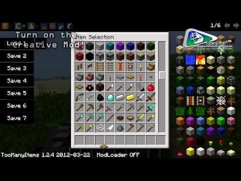1.7.2 Minecraft Mods   Too Many Items - Review & Installation