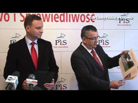 Konferencja Prasowa Prawa I Sprawiedliwości W Krakowie.
