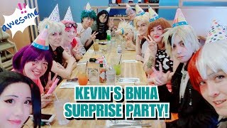 [UchihaHotline] Class 1-A Surprise Party! (Kevin's Birthday Vlog) [BNHA Cosplay]
