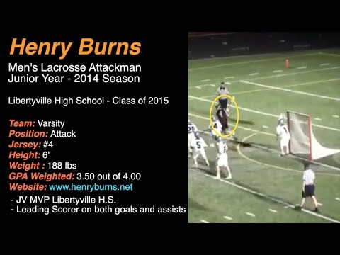 Henry #4  - Lacrosse Attackman - Libertyville High School 2014