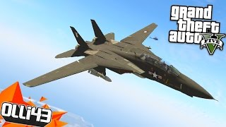 Fighter Jet Bombing Run!! GTA 5 Mods Showcase! (Angry Planes Remake)