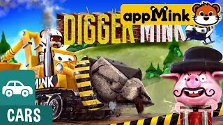 #appMink kids video: Construction Digger Rescue the Steam Train