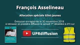 Allocution de François Asselineau spéciale Gilets Jaunes