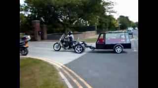Trike Motorbike Funeral Hearse & car hire from Blacks Carriage Masters