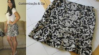 Saia com babado (Saia Trompete) by Customização & Cia