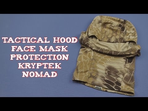 (Review) Tactical Hood Face Mask Protection Kryptek Nomad