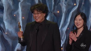 PARASITE Accepts the Oscar for International Feature Film