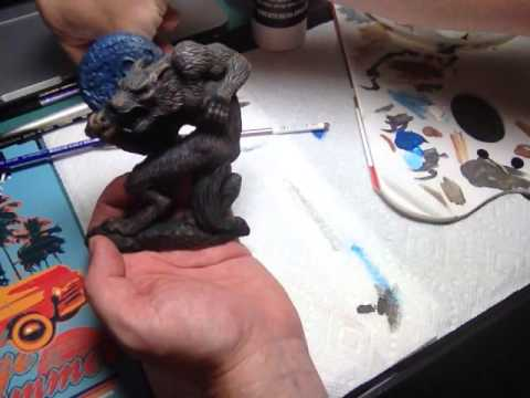 Dry Brush Painting Werewolf Resin Model Kit Refrigerator Magnet tutorial