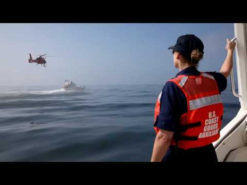 US Coast Guard and USCG Auxiliary - Helo Ops Training 2 - Clip 2 Video