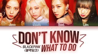 Download Song BLACKPINK - Don't Know What To Do (Color Coded Lyrics Eng/Rom/Han/가사) Free StafaMp3