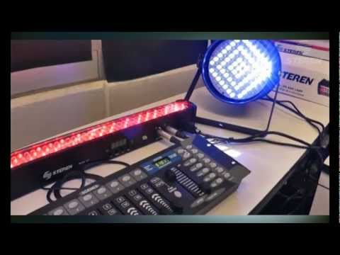 Video Tutorial de cómo configurar un DMX con lámparas de LEDs. Paso 3/3