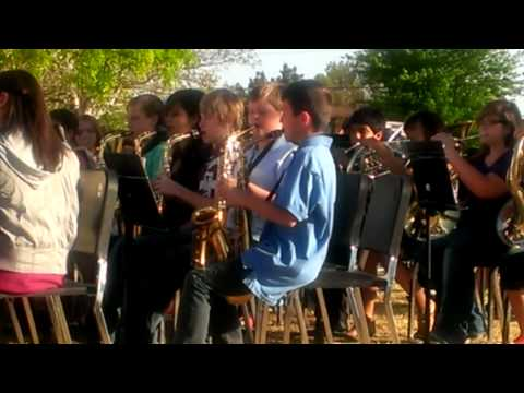 Borger middle school band concert outside