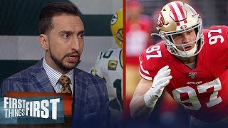 49ers defense has the clear edge over the Packers offense — Nick Wright | NFL | FIRST THINGS FIRST