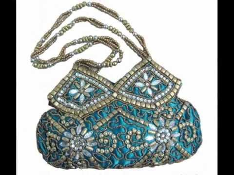 Evening Party Designer Stone Beaded Potli Bags From India - YouTube