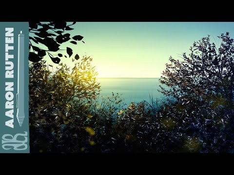 Digital Art Landscape - How To Paint a SEASIDE BLUFF