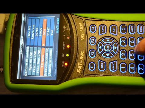 Medidor de Campo Satlink WS-6936 Tdt Sat Analizador espectro
