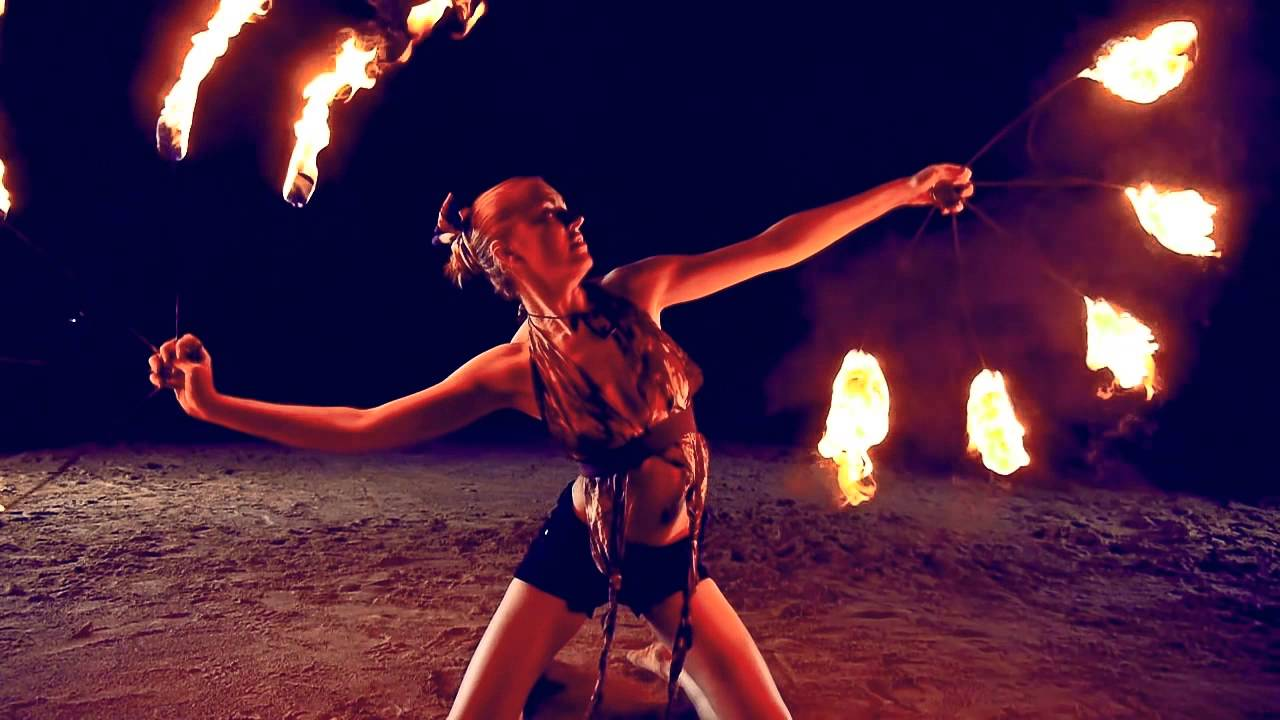 Fire Dancing Duet Poi And Fire Fans Youtube