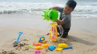 Trò Chơi Bắt Cá Trên Bãi Biển  ❤ ChiChi ToysReview TV ❤ Đồ Chơi Trẻ Em