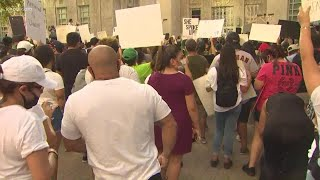 Rally demanding justice for Vanessa Guillen at City Hall