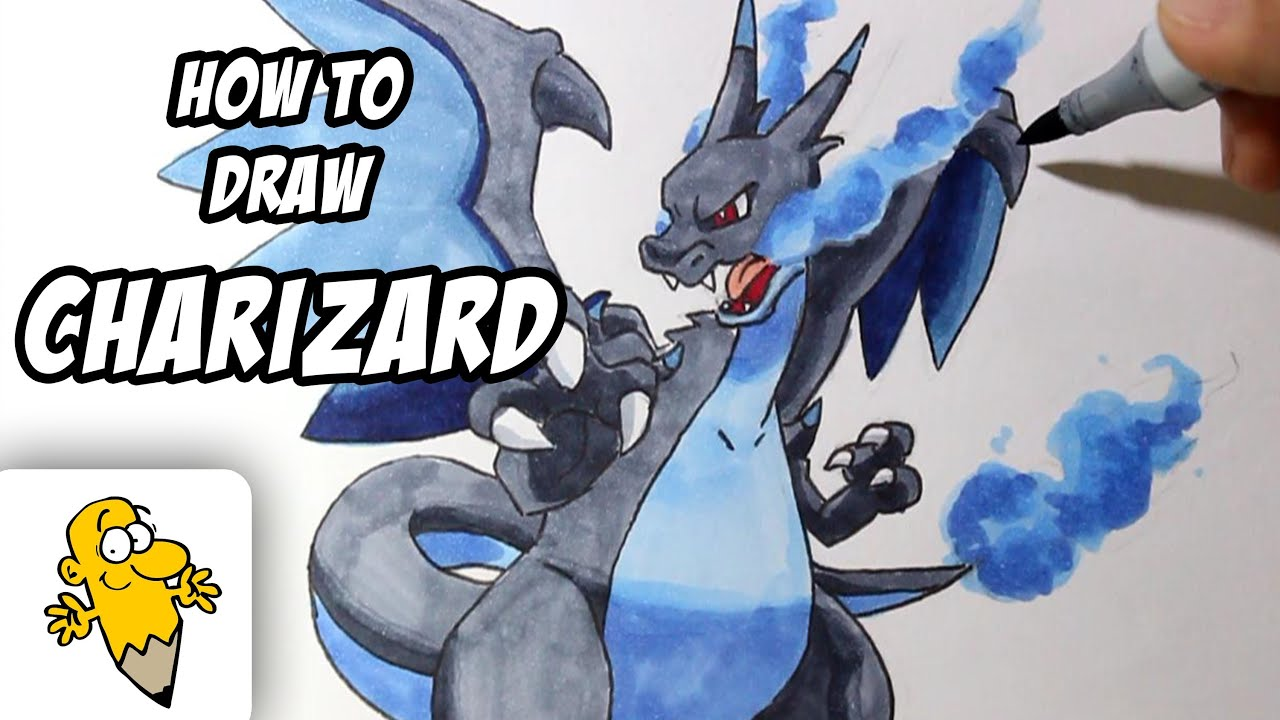 how to draw shadow charizard
