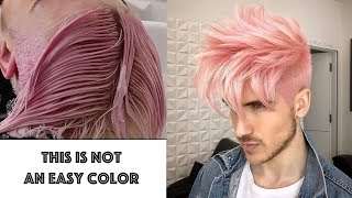 IRIDESCENT PINK HAIR