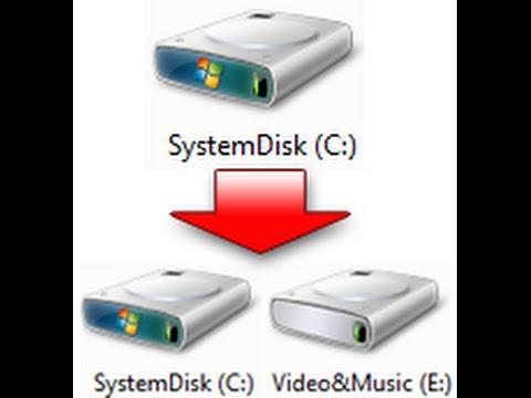Как сделать деление дисков