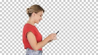 Woman Types On Smartphone Stock Video
