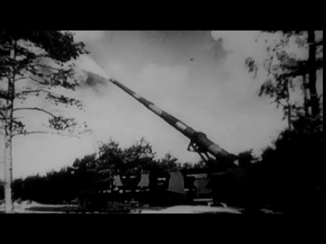 [German Railroad Guns in Action Near Verdun, France WW2 Artil...] Video