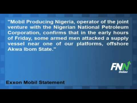Exxon Mobil's Nigerian Unit Says Gunmen Attack Ship