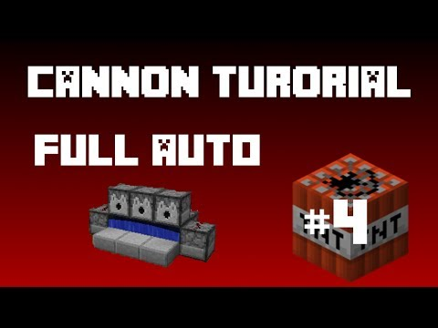 how to build a cannon in minecraft pe