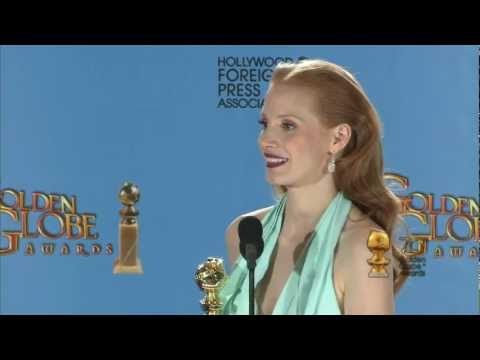 Backstage with Jessica Chastain, best actress/drama