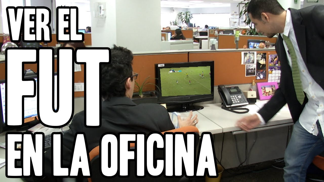 ver el fut en la oficina hashtag con maunieto y