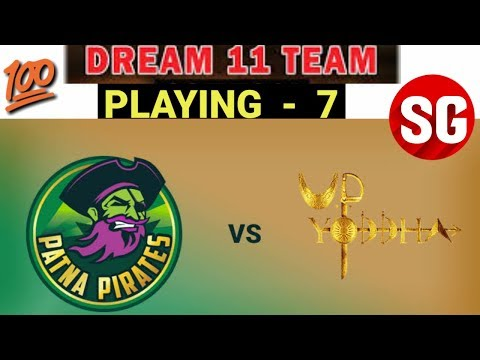PKL 2018 - Patna Pirates vs UP Yodha Dream 11 team + Confirm Playing 7 Both Teams.
