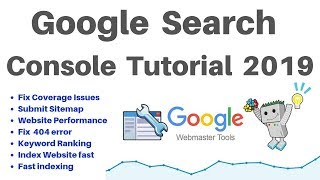 Beginner's Guide to New Google Webmaster Tools 2019  Google Search Console Tutorial 2019