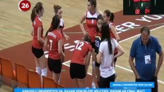 AÜ Voleybol Bayanlar Final Maçı Mühendislik Fak - Edebiyat Fak