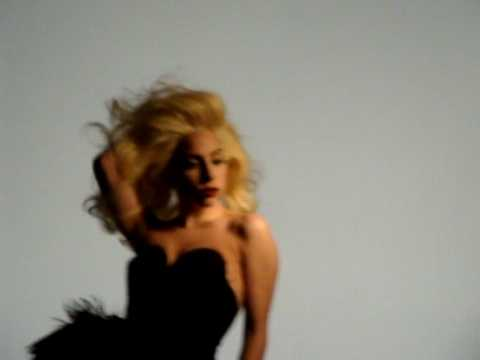 Lady Gaga i-D magazine photo shoot @ Somerset House, London