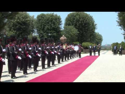 Roma - Renzi accoglie il Presidente della Repubblica d'Angola (06.07.15)