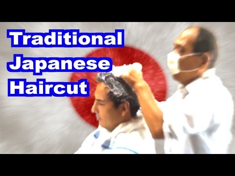 [HD]  Visit to Traditional Japanese Barber (Unedited).