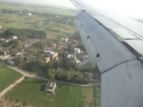 Spice Jet Landing in Varanasi India